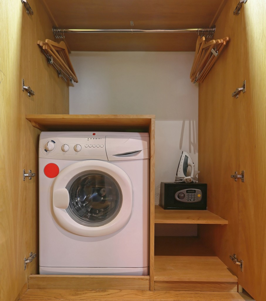 Washing Machine and Safe Box in Closet