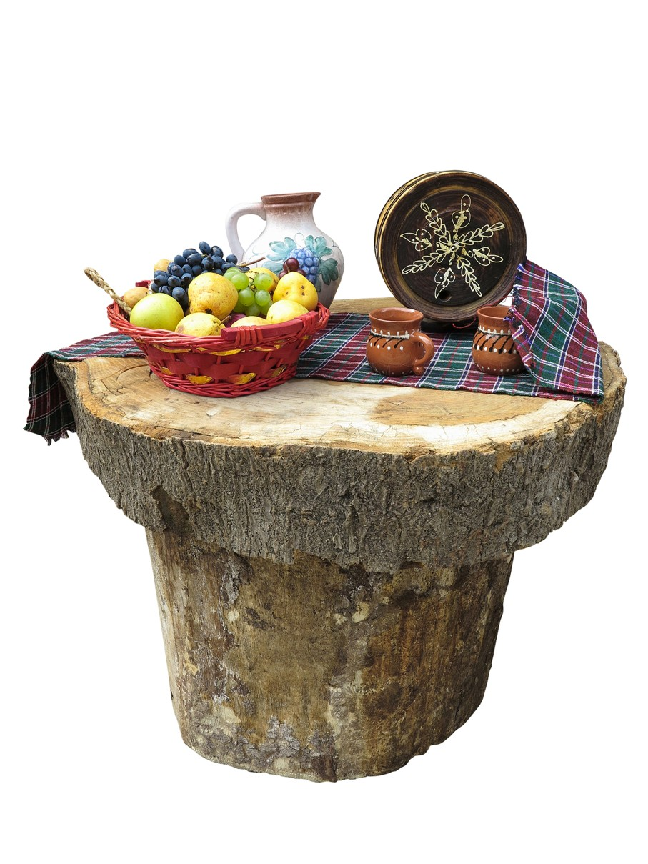 Table made of logs