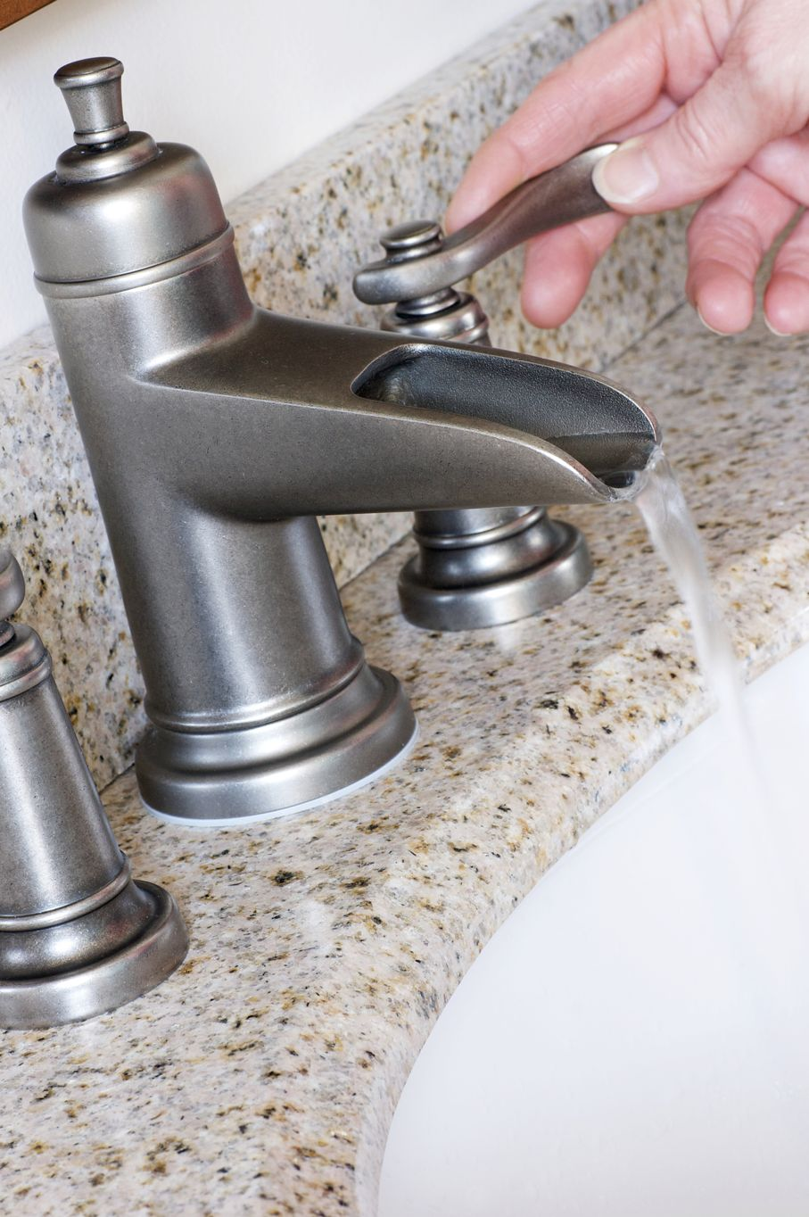 Modern Bathroom Taps in Brushed Nickel