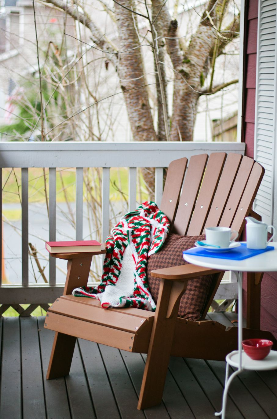 Book and Coffee on a Cozy Porch