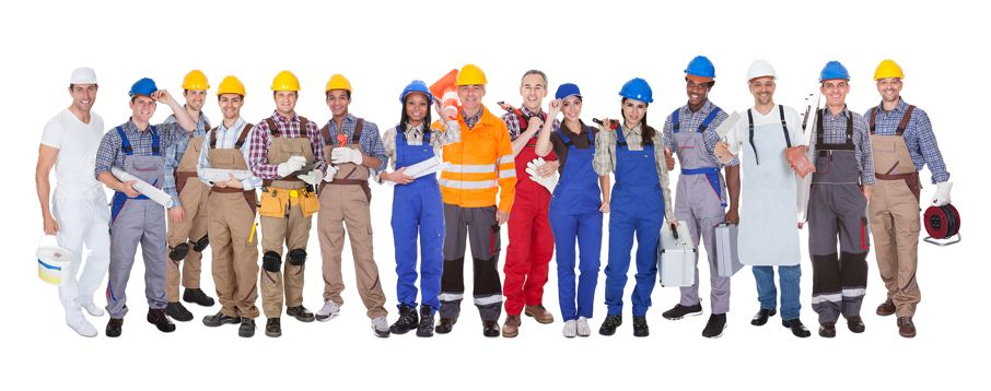 Group Of Construction Workers