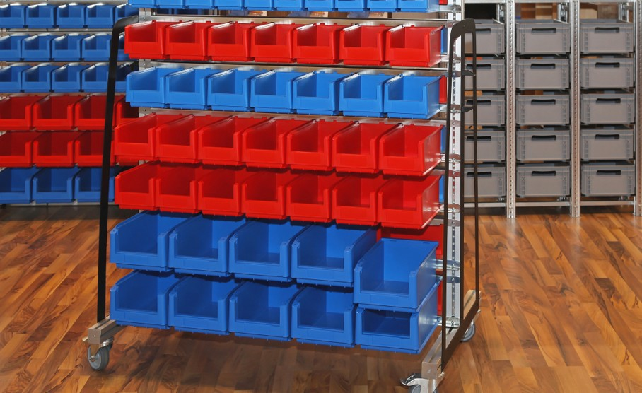 Sorting Tubs and Bins Storage Cart
