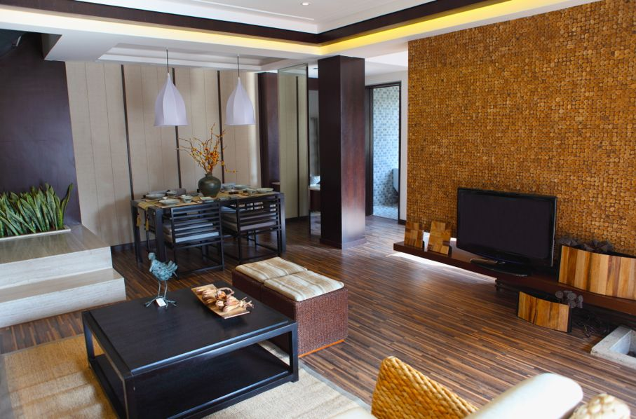 Living room suite of soft furniture interior feng-shui