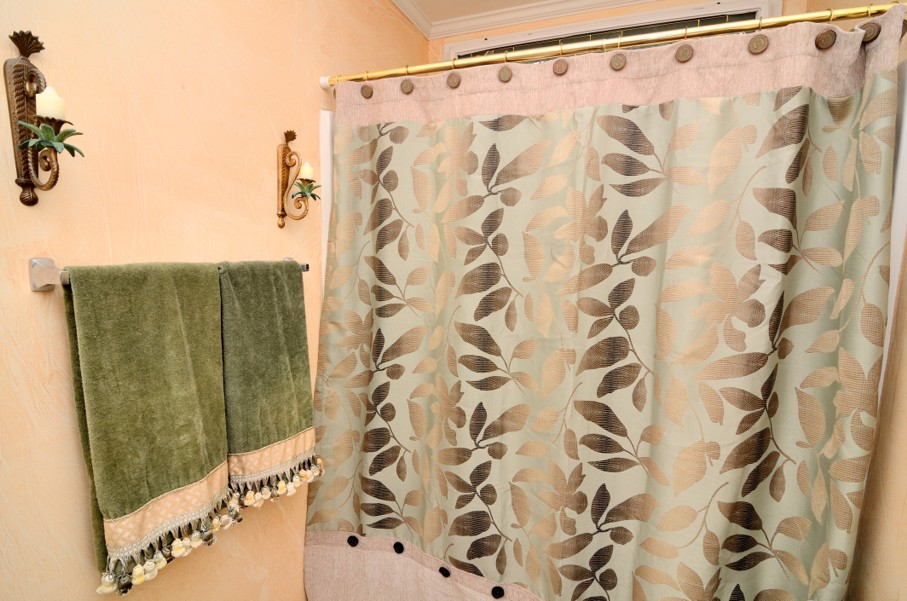 Towel and Shower Curtain