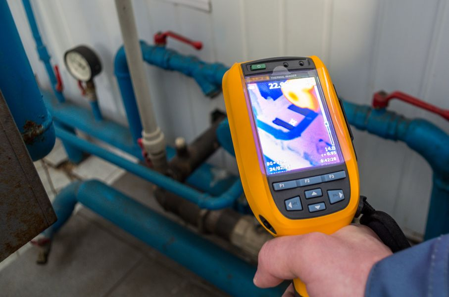 Thermal imaging inspection camera
