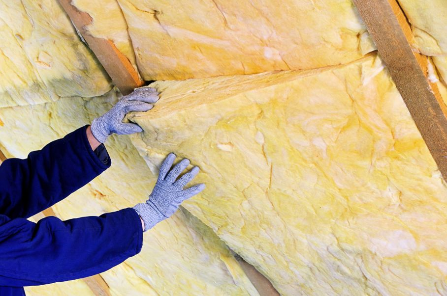 Mineral rock wool for heat insulation