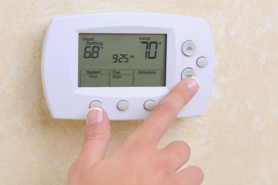 Thermostat setting the temperature
