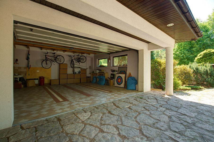 Entrance to a garage