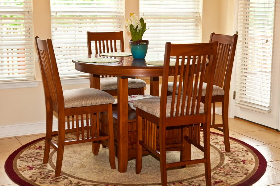 Traditional hightop table in a residential breakfast nook