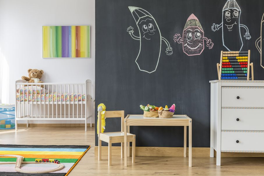 Drawings on a black wall