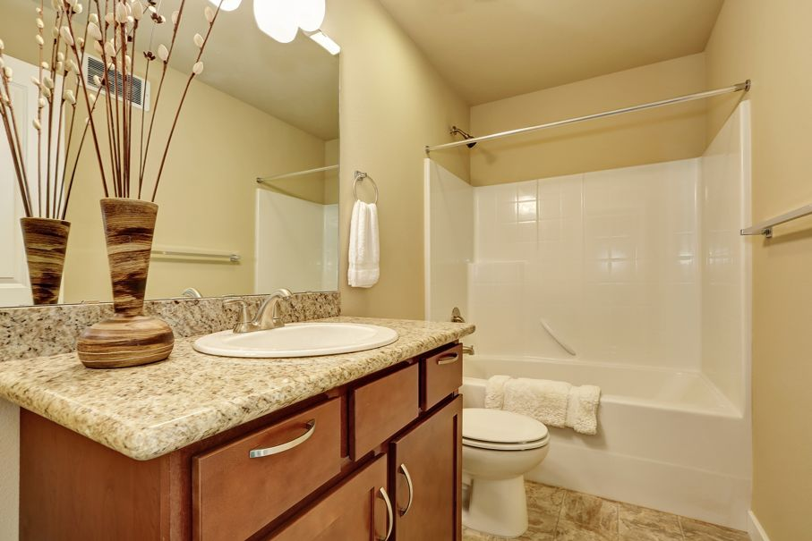 Elegant bathroom with an undermount sink