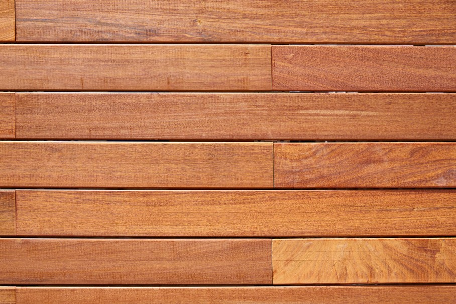 Ipe teak wood decking fence pattern
