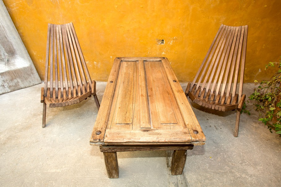 Vintage recycled furniture made of reclaimed wood