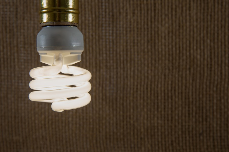 White CFL Light Bulb