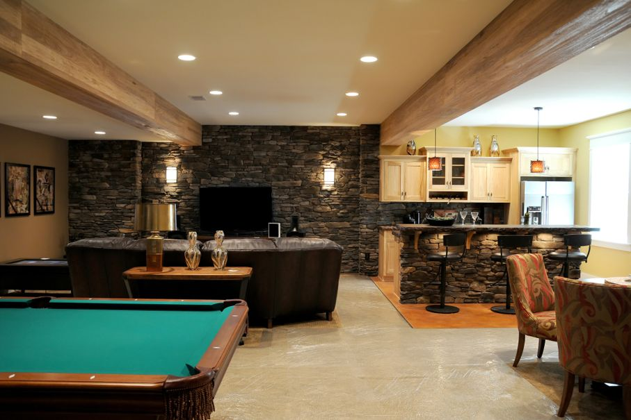 48 Creative Ideas On How To Finish Your Basement House Tipster Extraordinary Ideas For Finishing Basement Creative