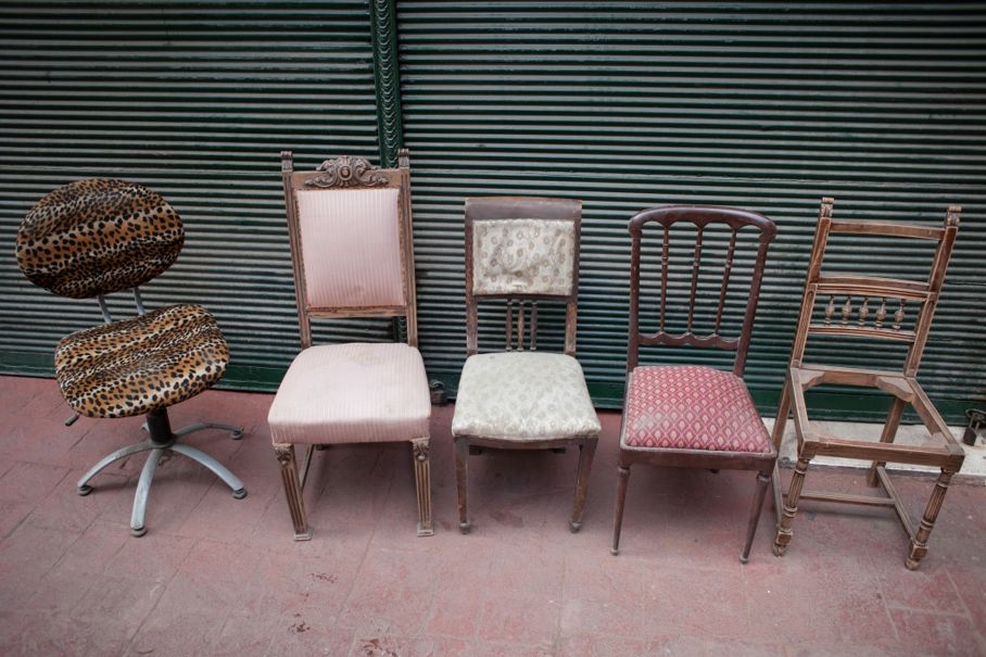 Vintage hand chairs on sale
