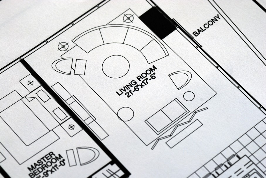 A floor plan focused on the living room