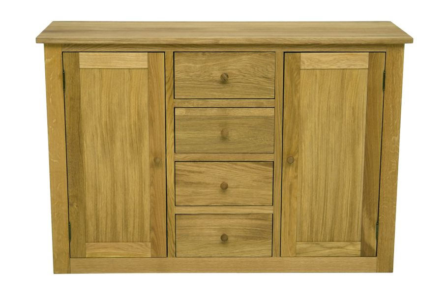 High quality, classic style design with front and upper board made in masive oak or beech wood. Side boards made in veneer