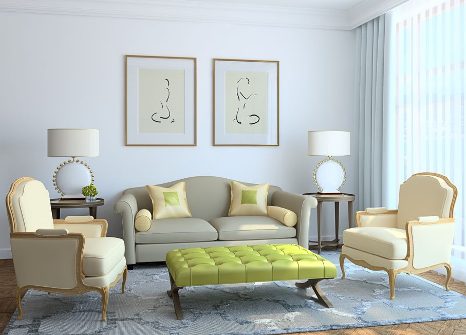 Modern living-room interior. Classic style