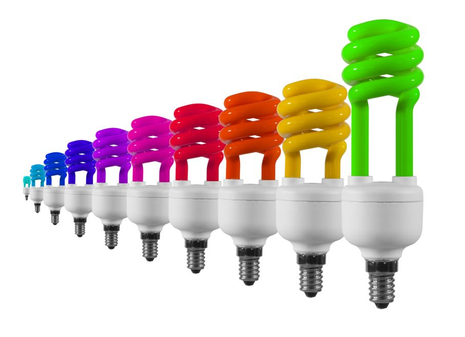 Multicolour light bulbs