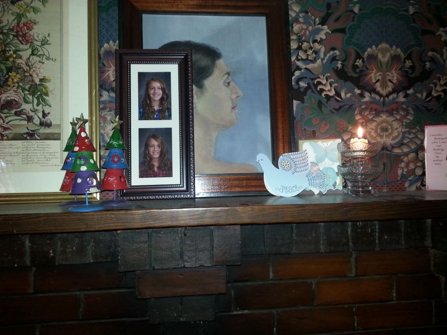 Close Up of Christmas Mantel