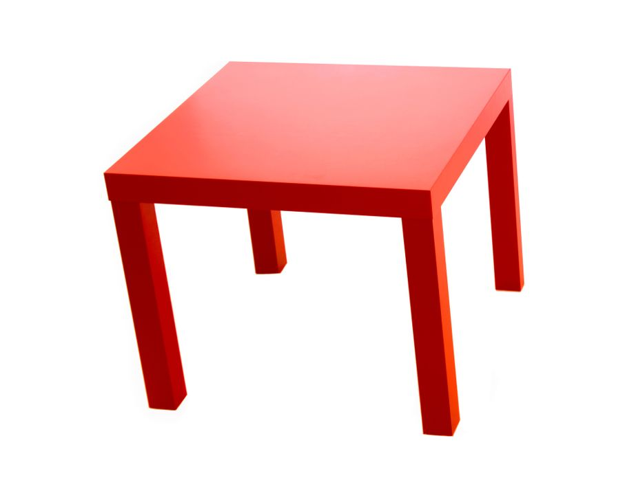 Modern red table