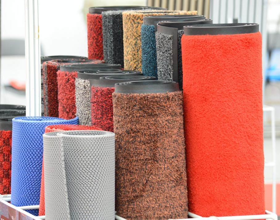 Carpet rolls with different colors and different materials