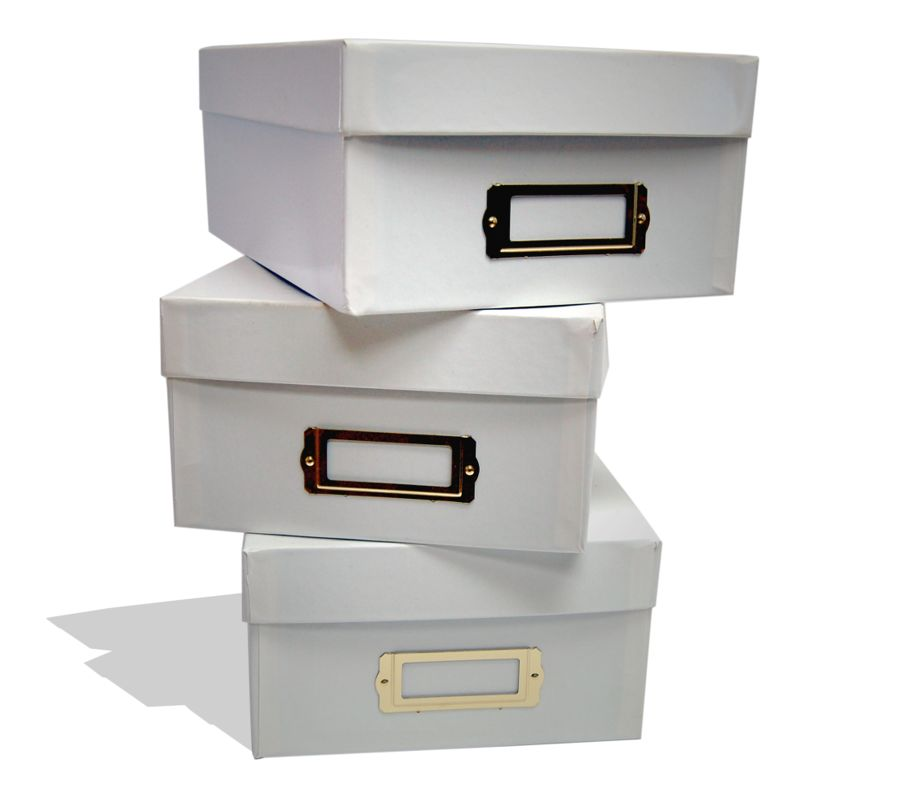 White File Boxes