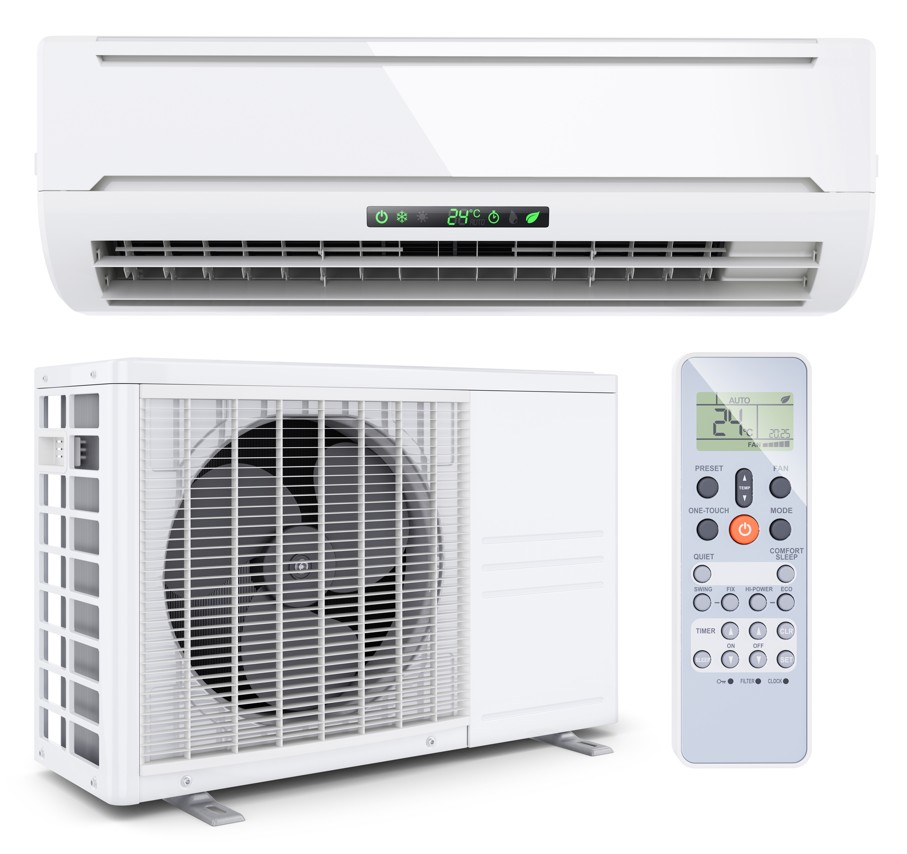 Air conditioner split system with remote controller