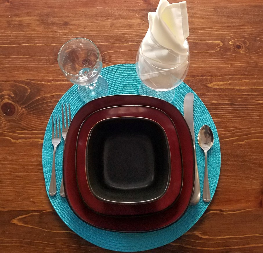 Place Settings For The Dinner Table Formal And Semi