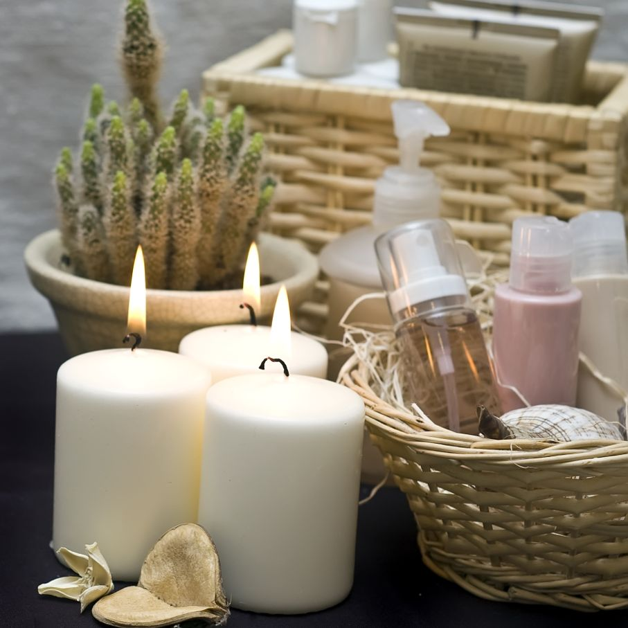 Candles and cosmetics