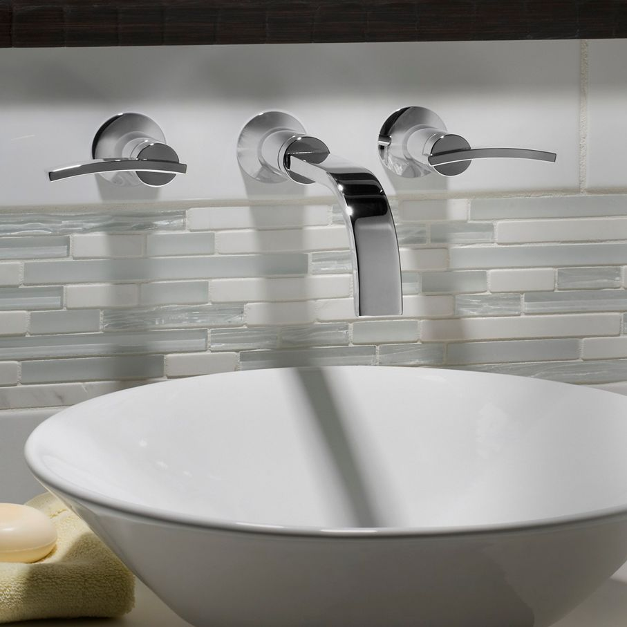 A Dreamy Spa-Inspired Bathroom with the Berwick Wall-Mounted Faucet