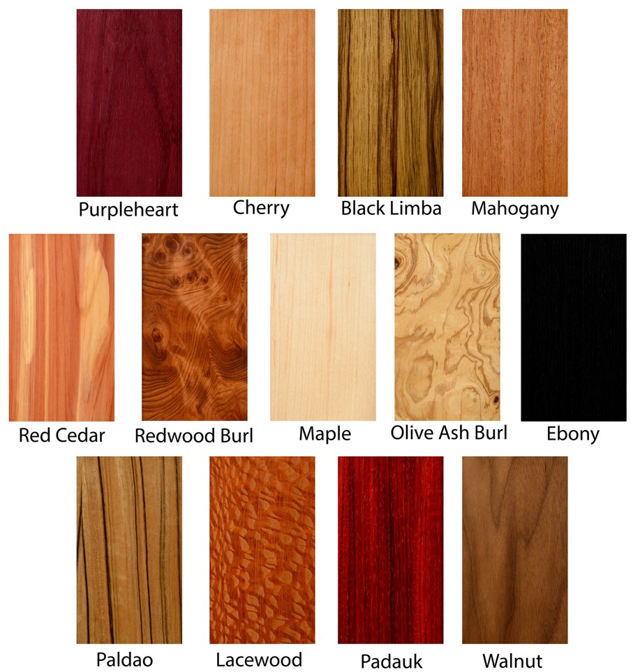 Wood Texture samples exotic hardwood